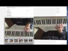 Notas en el piano: la cucaracha. Aprender con videos.