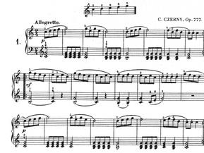 Czerny 1º. Los cinco dedos