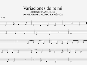 Variaciones sobre un tema. Do re mi.