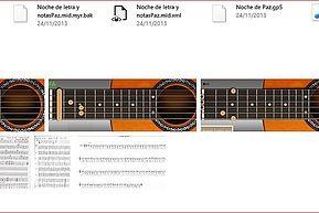 Noche de paz, guitarra, acordes, letra, bandurria, laúd.