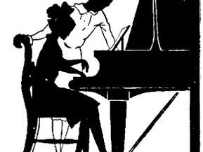 Clase de piano en la red.