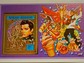 Sello de oro de Elvis Presley año 1987