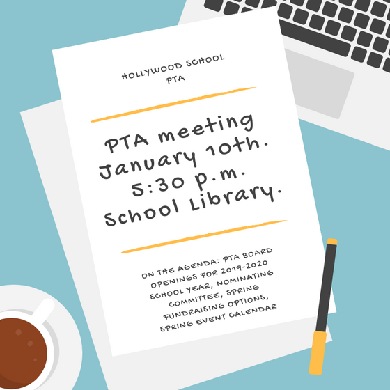 Pop on by the PTA meeting
