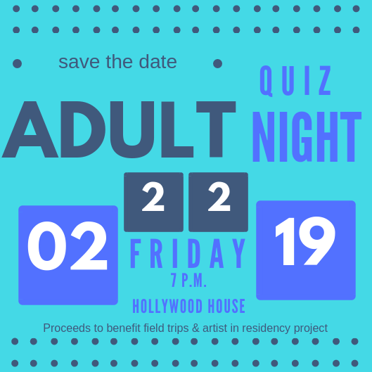 Question: What's on 2/22/19? Answer: Adult Quiz Night!!