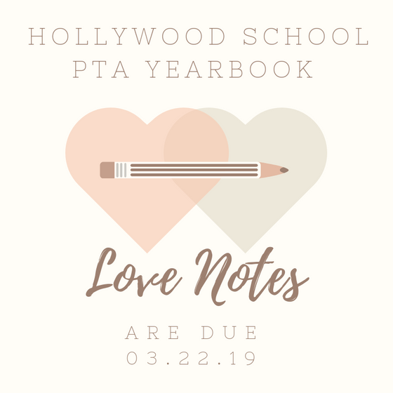 Hollywood Yearbook Love Notes Available For a Limited Time Write yours today!