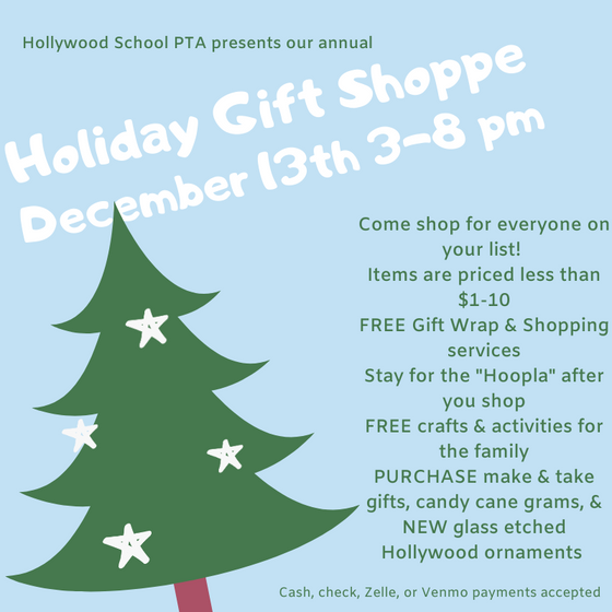 Join Us this Friday, 12/13 for our annual Holiday Gift Shoppe & Hoopla!