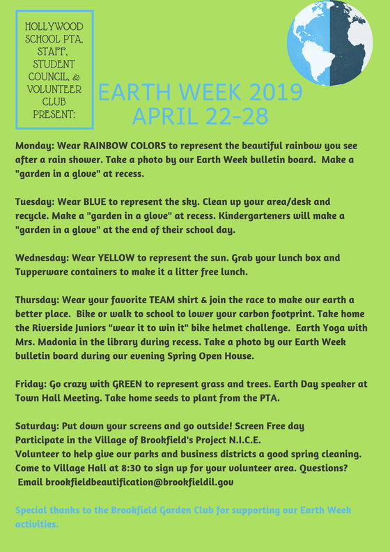 Your Guide to Earth Week 2019- Revised