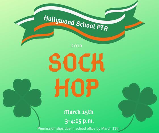 Sock Hop Permission Slips Due 3/13