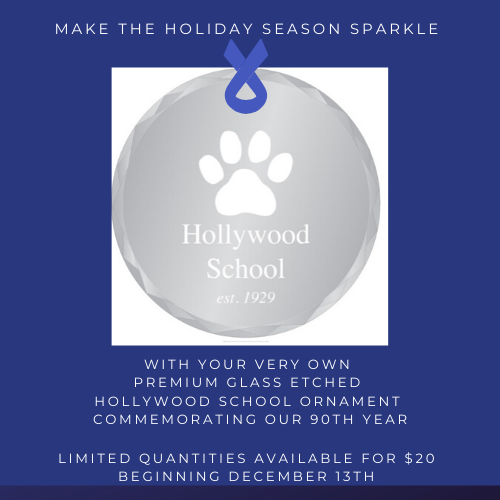 Just in time for the holiday season: a NEW Hollywood School ornament