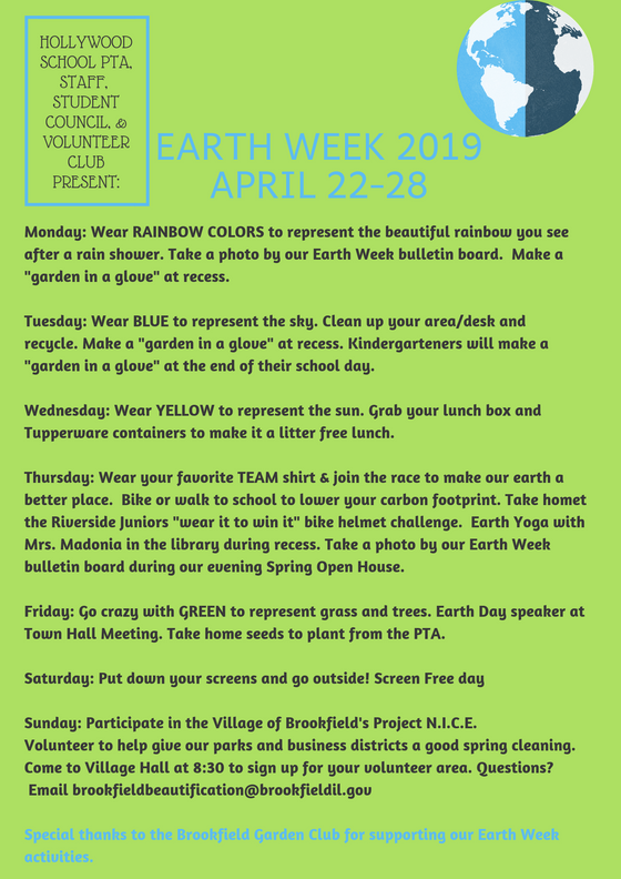 Your Guide to Earth Week 2019