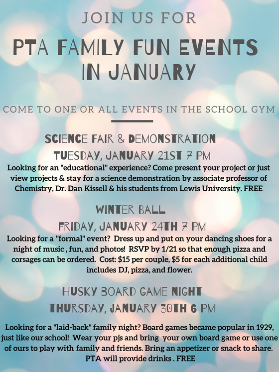PTA Family Fun Events in January