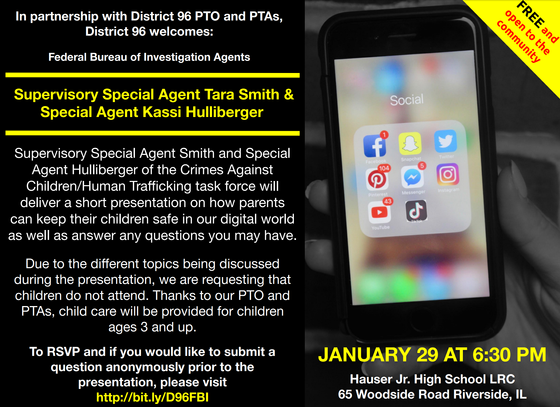 Save the Date: Parent Presentation-Keeping our Kids Safe in a Digital World