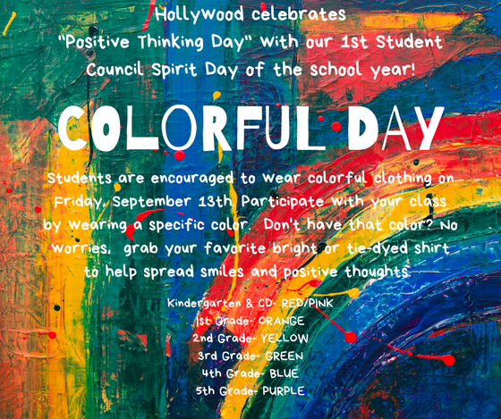 Hollywood Celebrates: Positive Thinking Day & Colorful Day