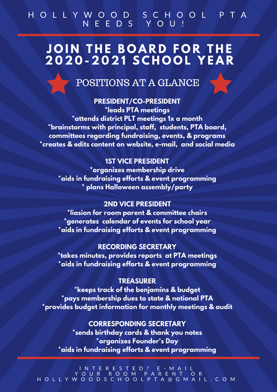 The 2020-2021 PTA board needs you!