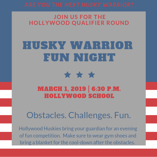 On your marks, get set.....GO to Husky Warrior Night THIS Friday, 3/1