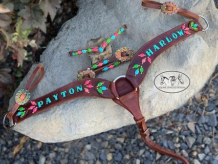 custom gemstone tack