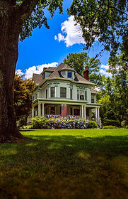 Ridgewood Victorian Mansion on Spring.jp