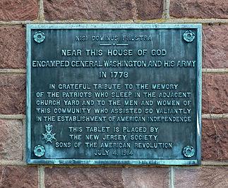 Ridgewood George Washington Plaque Churc