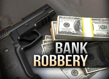Bank Robbery Graphic gun  money 1-8-2021