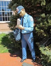 Ridgewood letter carrier statue Johnson