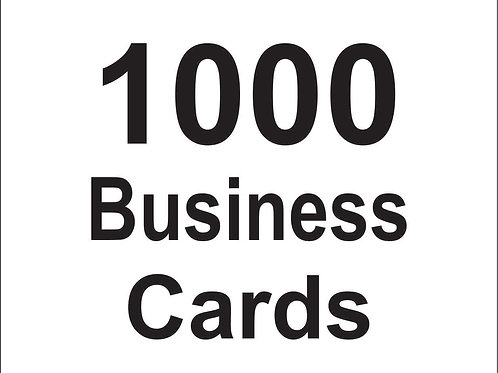 1000 Custom Business Cards