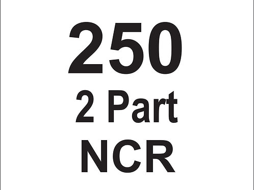 2 Part NCR FORMS 8.5 x 11