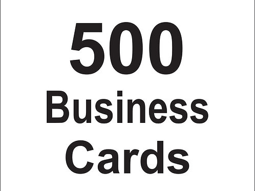 500 Custom Business Cards