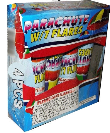 Parachute With 7 Color Changing Flare