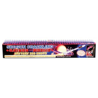 200 Shot Crackling Saturn Missile Battery