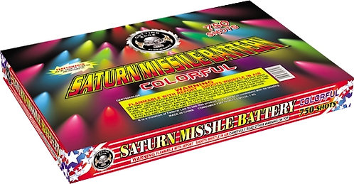 750 Shots Color Saturn Missile Battery