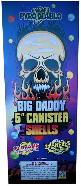 """5"""" Big Daddy Cannister Shells [4/24]"""