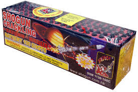 100 Shot Crackling Saturn Missile Battery
