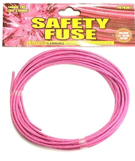 Pink 'Perfect' Fuse (Burn-rate: 10 sec/foot)