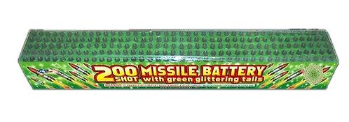 200 Shot Green Glitter Large Saturn Missile Battery