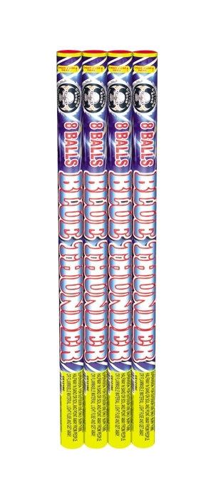 Blue Thunder Roman Candle - 8 Balls