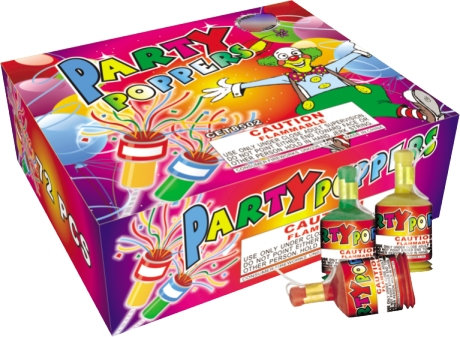 Party Poppers - 72 Count [20/72]