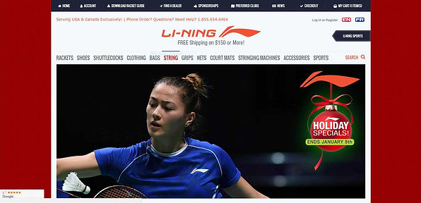li-ning ecommerce website design