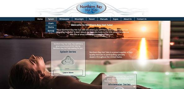 northern bay hot tub builders websit design