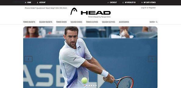 racquet zone ecommerce website design