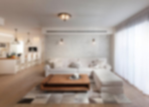 חלל מרכזי בפרויקט דירה במגדלי תל אביב של ליאת הראל - סטודיו לעיצוב פנים ואדריכלות