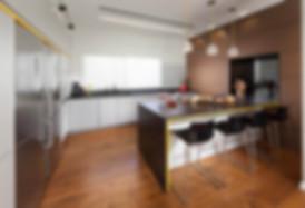 מטבח בפרויקט בית בקדימה של ליאת הראל - סטודיו לעיצוב פנים ואדריכלות