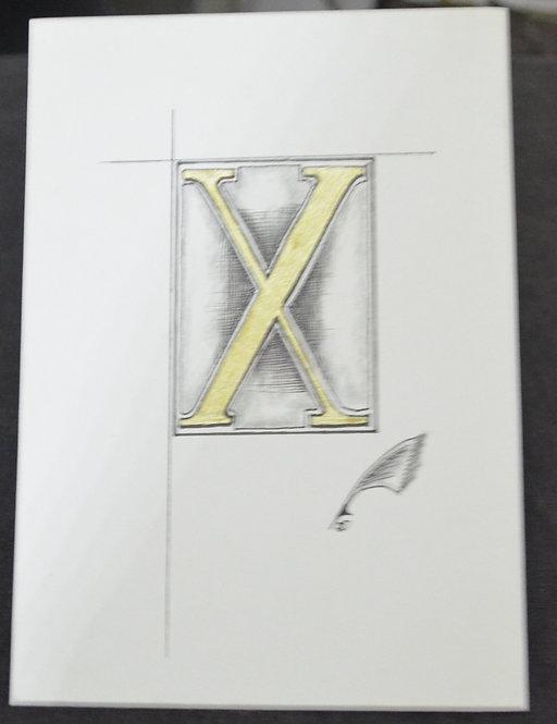 Illuminated X Unframed
