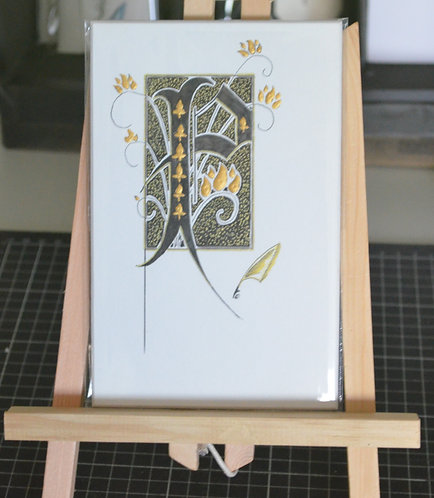 Illuminated Letter P Unframed