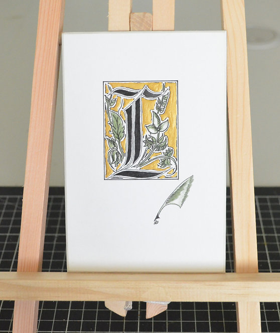 Illuminated Letter L Unframed