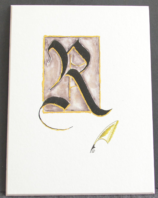 Illuminated R Unframed