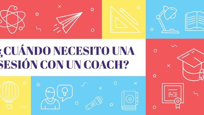 ¿Cuándo necesito una sesión con un coach?