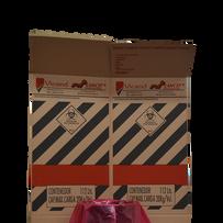 Cajas de cartón corrugado descartables