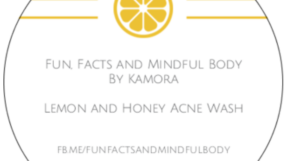 Lemon and Honey Acne Wash