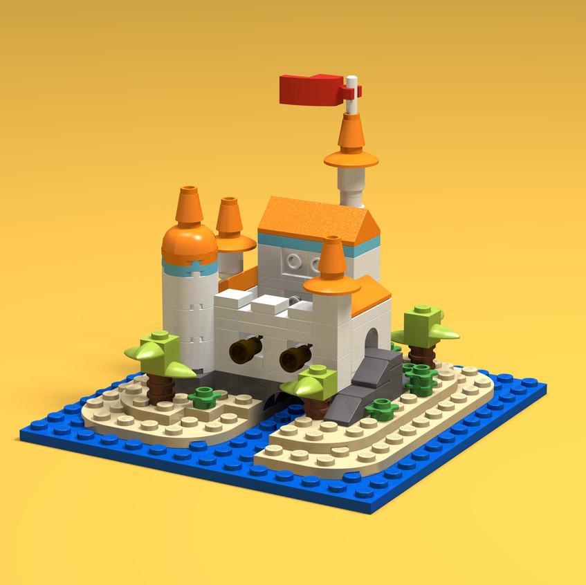 Brick Buildings - Island Fortress