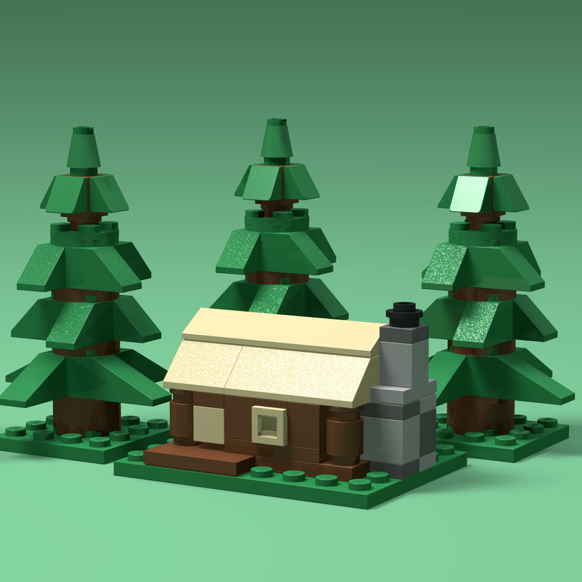 Brick Buildings -Forest Cabin